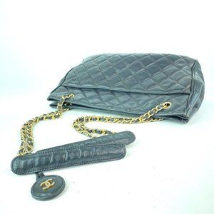 Chanel Bags - Chanel Black Quilted Lambskin CC Gold Chain Tote